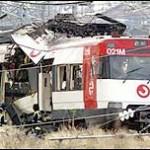 Damaged train