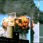 World Trade Center on fire, 11 September